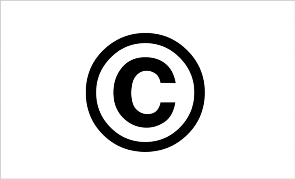 The copyright symbol - featuring one c in a circle