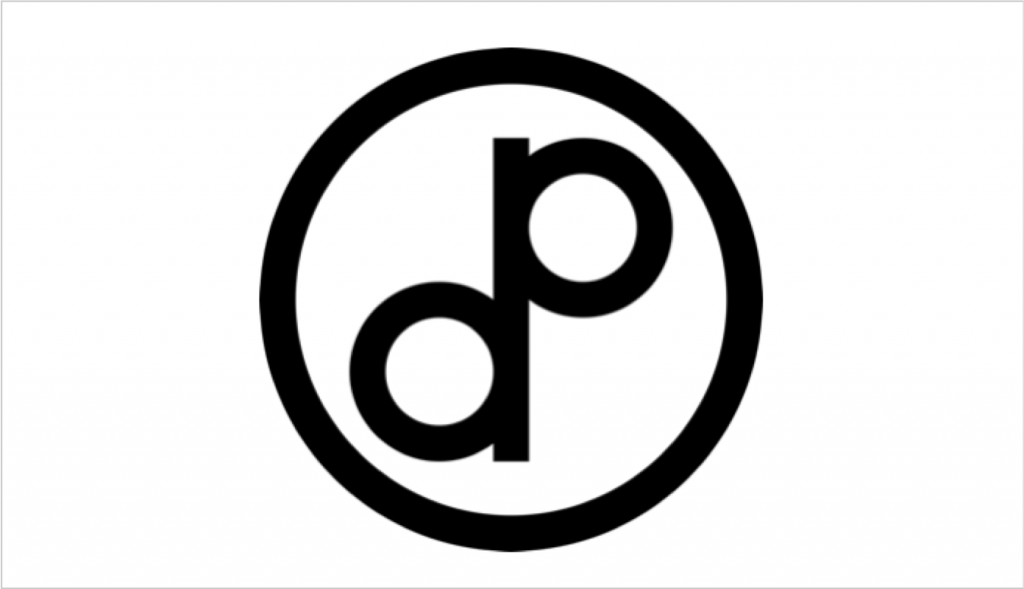 The public domain symbol - featuring an overlapping p and d in a circle