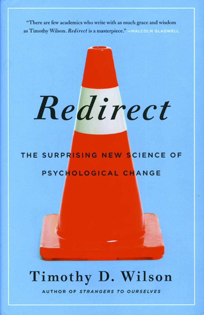 The front cover of Redirect by psychologist Timothy Wilson.