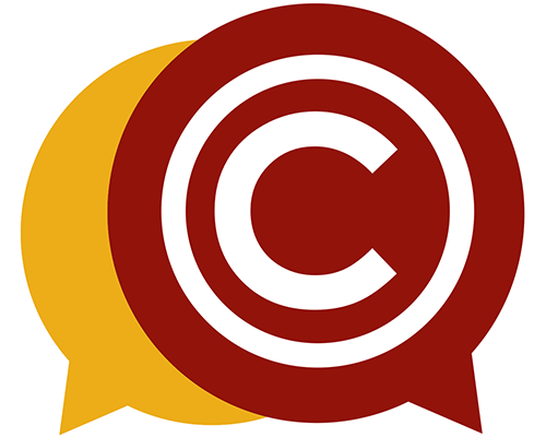 copyright symbol inside a conversation bubble
