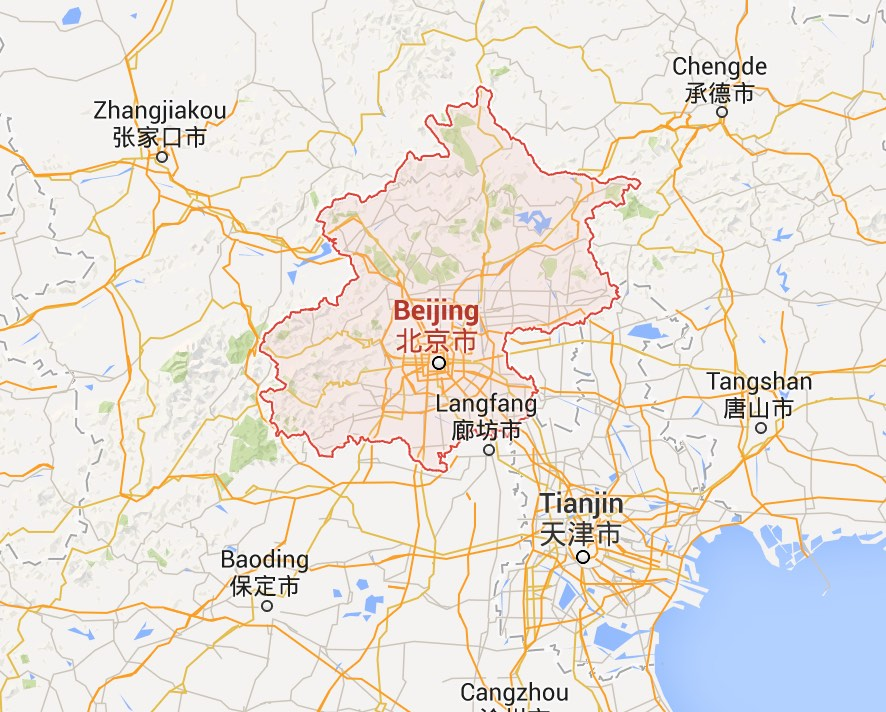 Geographic Location of Beijing in China