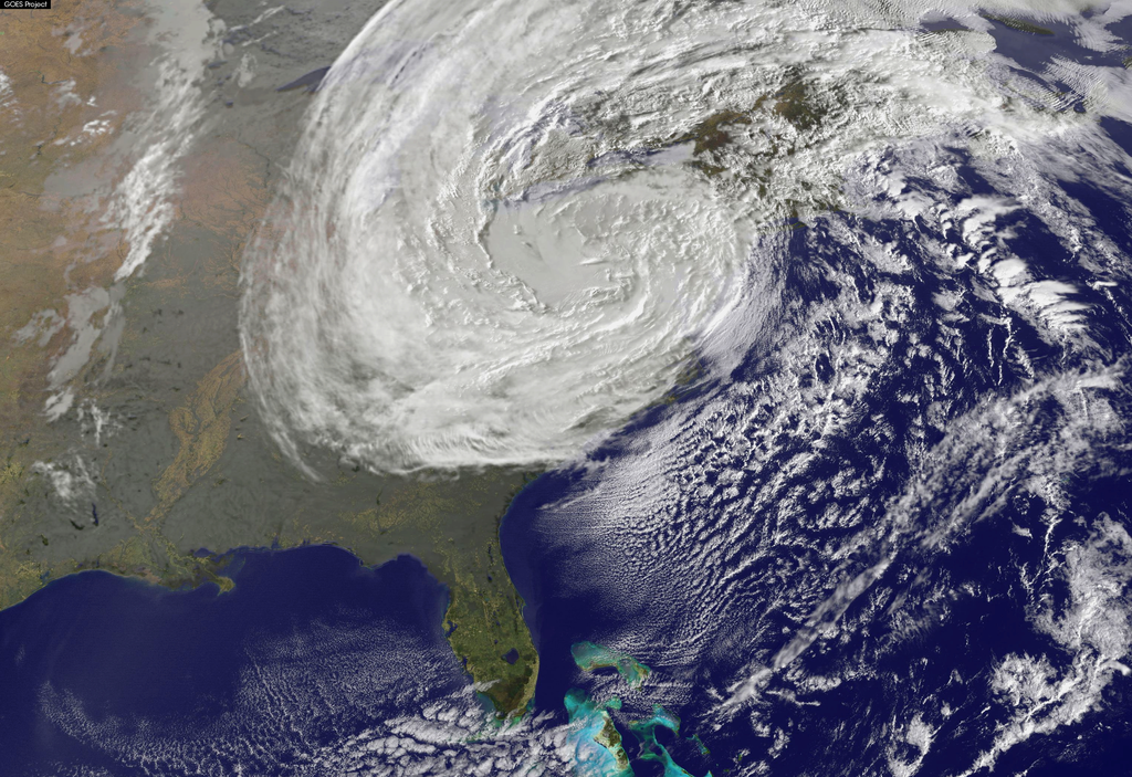 Superstorm Sandy from space