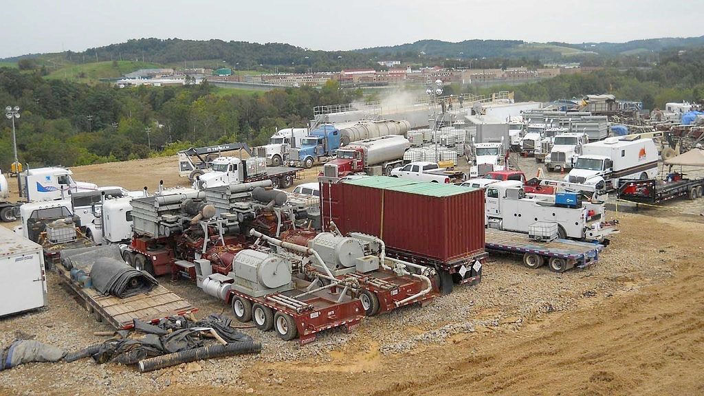 Heavy Equipment at New Fracking Site