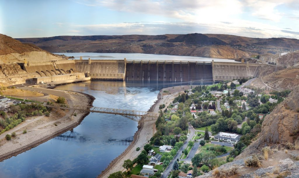 River Leading up to Grand Coulee Dam