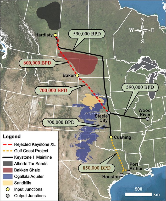 pipeline routes throughout western united states