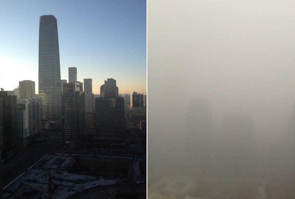 Difference in Air Quality Levels in Beijing