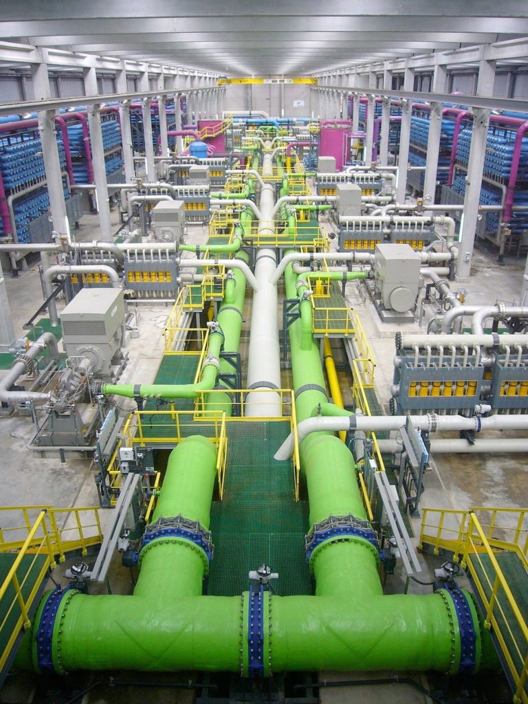View Within a Desalination Plant
