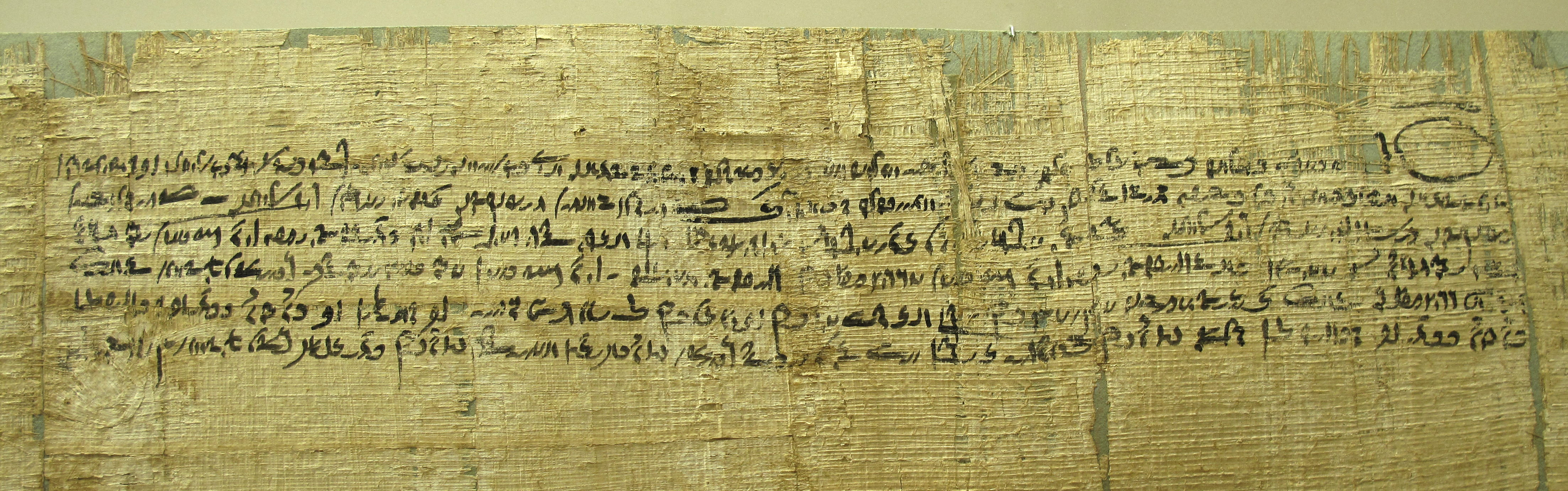 Image of Demotic Written on Papyrus