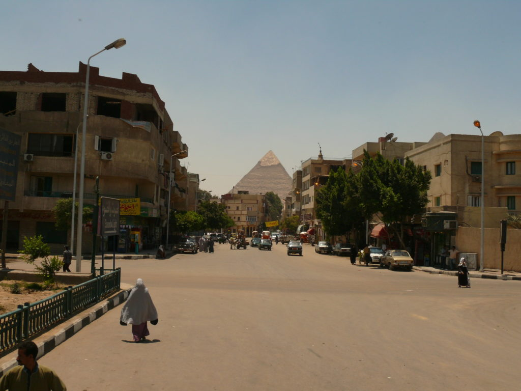 Image of a Street Scene in Giza
