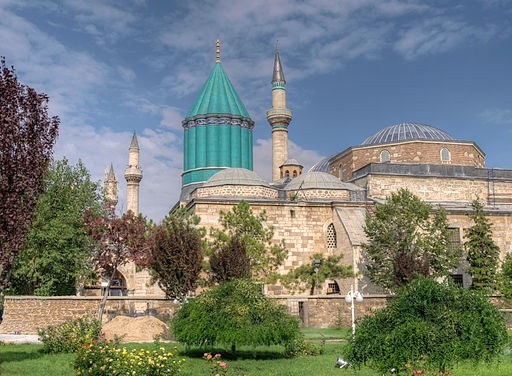 Image of Maulana's (Mevlana, in Turkish) Mausoleaum