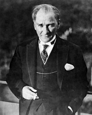 Image of Mustafa Kemal Atatürk, first president of the Republic of Turkey.