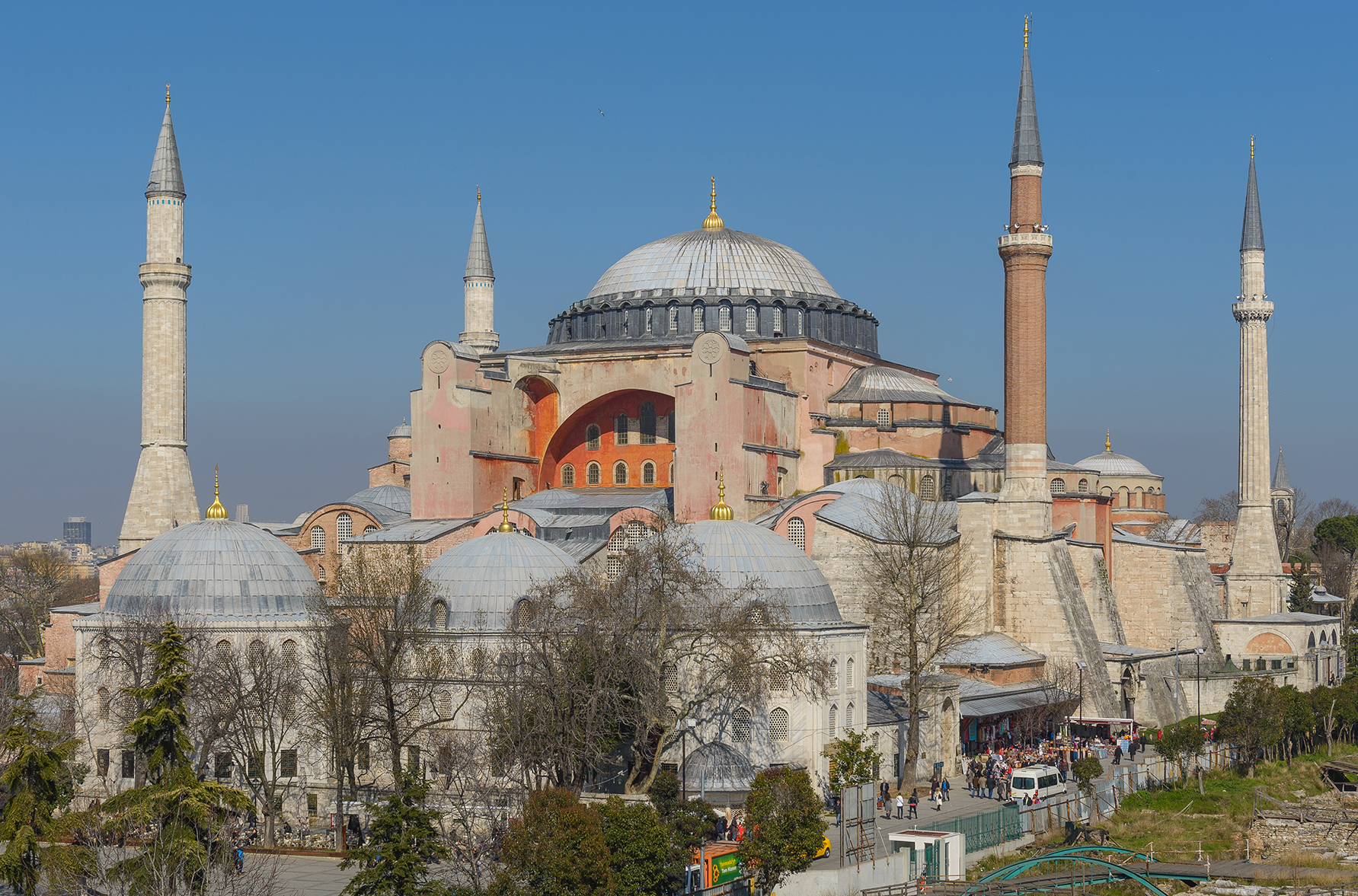 The Hagia Sophia church (now a museum) in Istanbul, Turkey