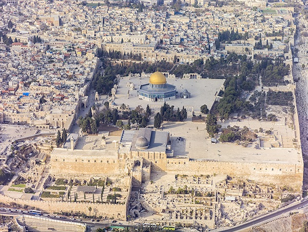 Image of The Temple Mount, Aerial View