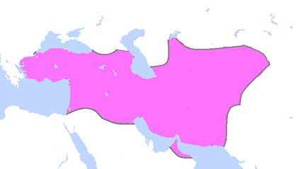 """Map of the region under Cyrus the Great. (Wikipedia Entry """"Cyrus the Great"""") """"map of the territorial extent of the Achaemenian Empire after the conquests of Cyrus the Great"""" by Artin Mehraban, Creative Commons Attribution-ShareAlike 3.0 License, via Wikimedia Commons."""