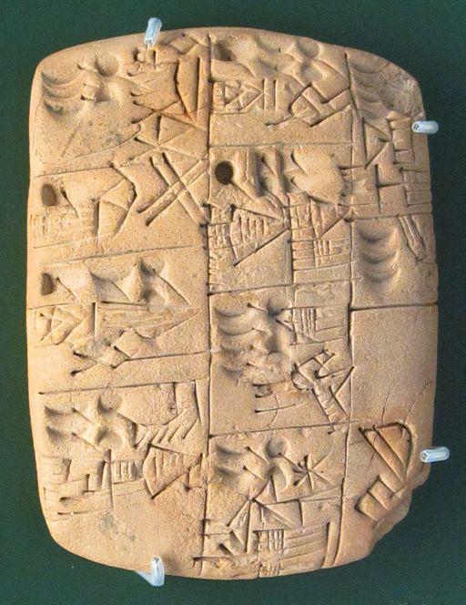 Image of Cuneiform tablet.