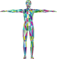 outline of human with arms held outstretched