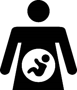 icon of a pregnant woman