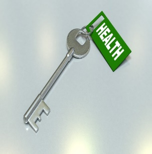 """a key with a tag saying """"Health"""" on it"""