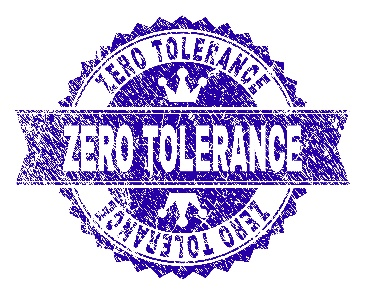 "Icon saying ""Zero Tolerance"""