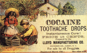 old advertisement for cocaine toothache drops