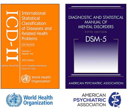 imagen of the book covers of the ICD-II and DSM-5
