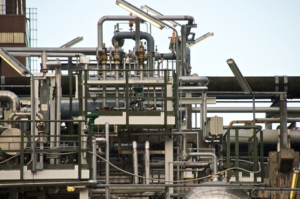 Image of pipes, industrial setting