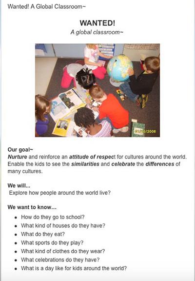 Screenshot of blog post