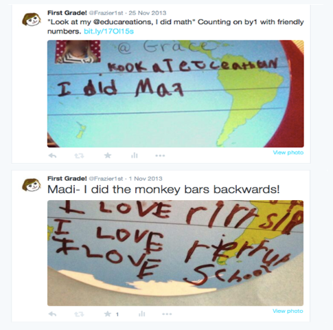 Tweets sent by students
