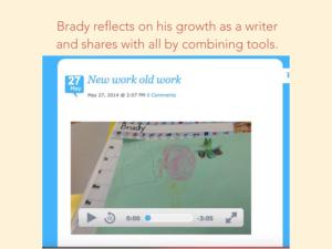 Screenshot of student's blog post (link in caption)