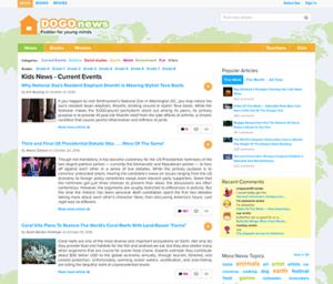 Screenshot of Dogo News website