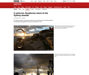 Screenshot of BBC News in Pictures website