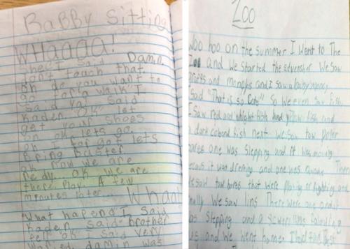Rana and Taylor's writer's notebooks