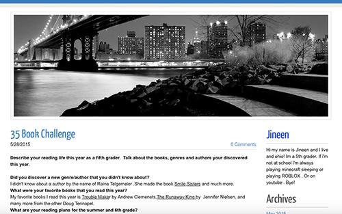 "Screenshot of ""35 Book Challenge"" blog post"