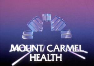 mount carmel health logo with pink and blue color