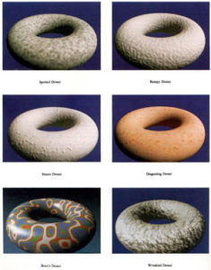 renderings of different donut sapes