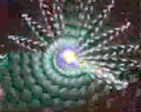 blue and purple spiral from a scene from Spiral 5