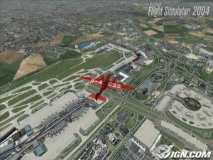 a flight simulator