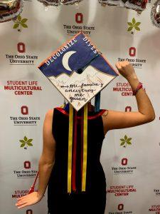 Fredericks en su graduación.